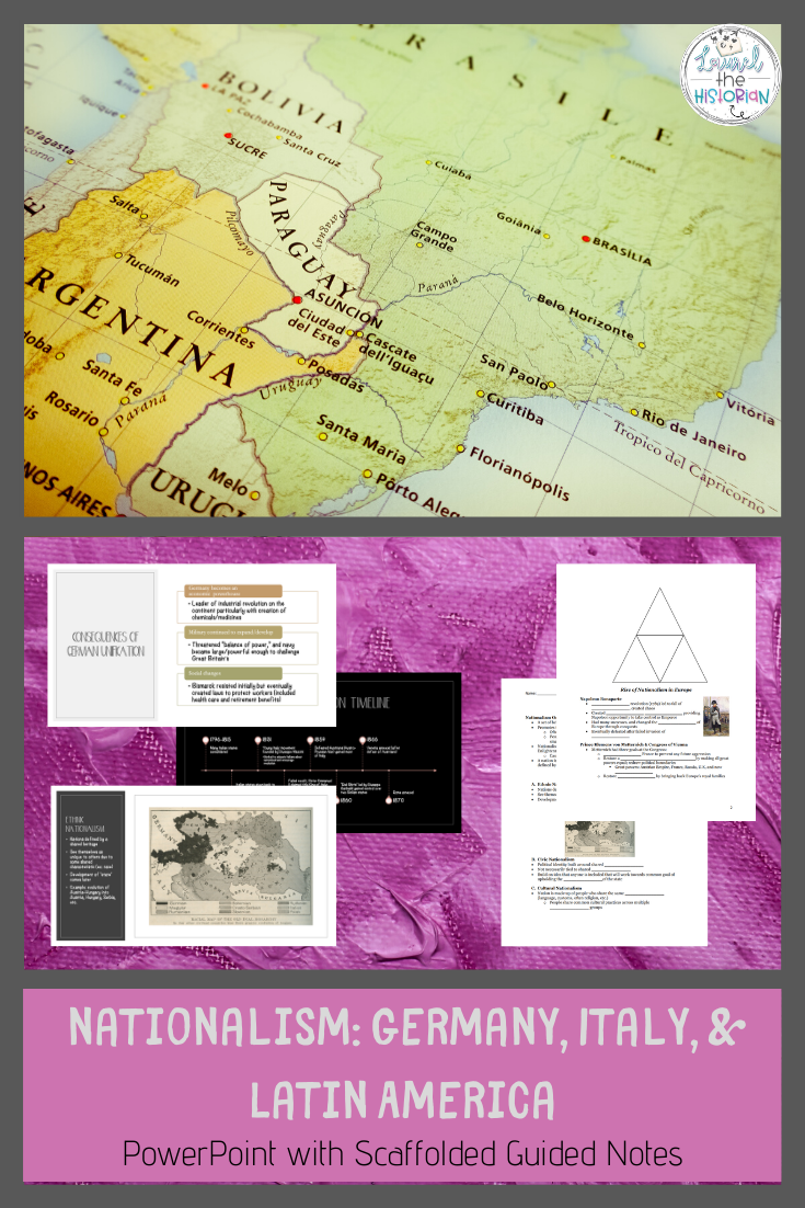 Nationalism In Germany And Italy Latin America 1800s Interactive Notebooks Social Studies Elementary Social Studies Lessons Social Studies Elementary