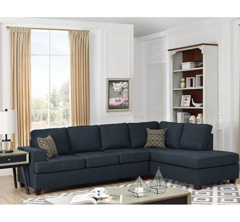 Watauga Right Hand Facing Sleeper Sectional Sleeper Sectional Modular Sectional Sofa Fabric Sectional Sofas