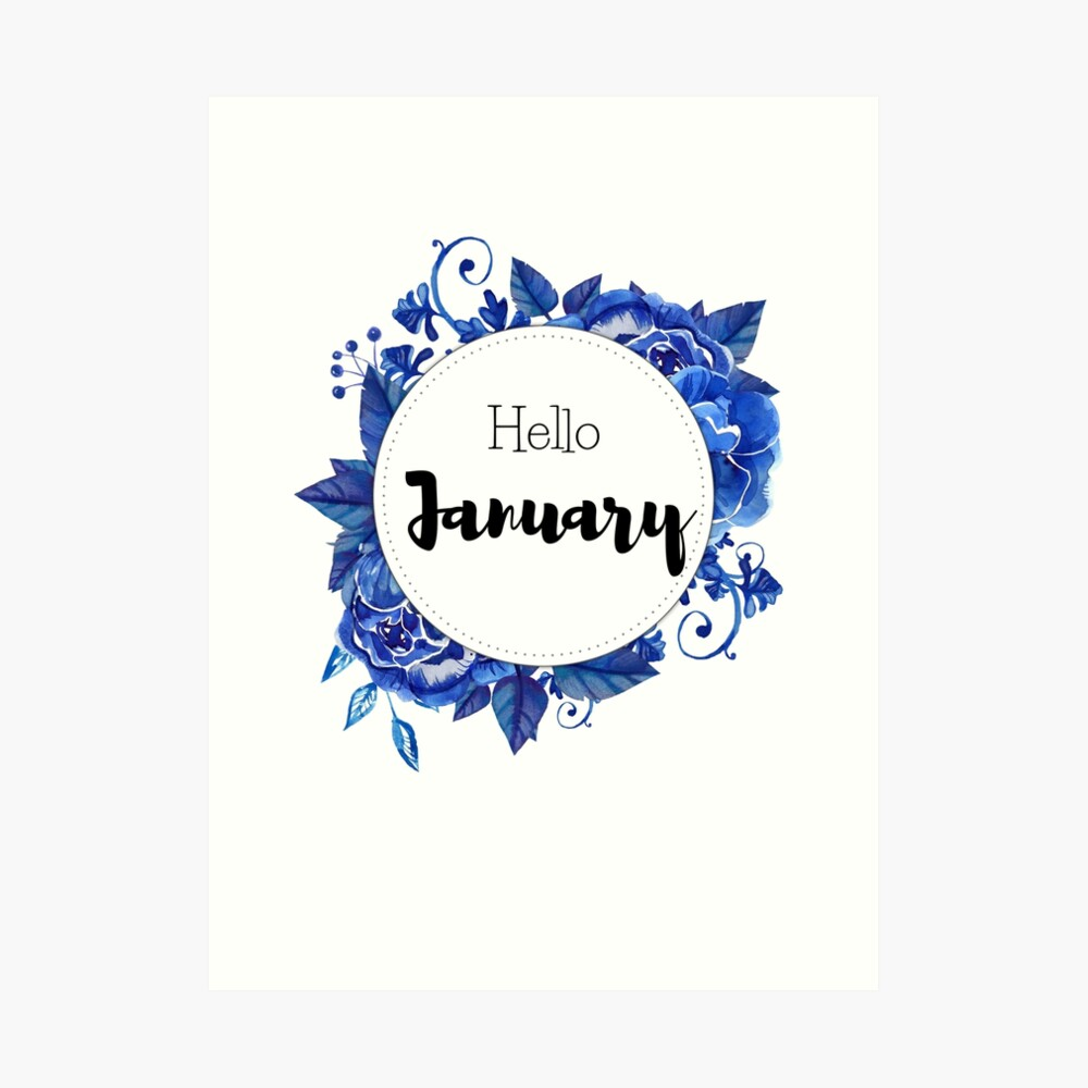 'Hello January - monthly cover for planners, bullet journals, ' Art Board Print by vasylissa #hellojanuary