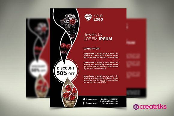 Jewelry Flyer Presentation Templates  Presentation Templates