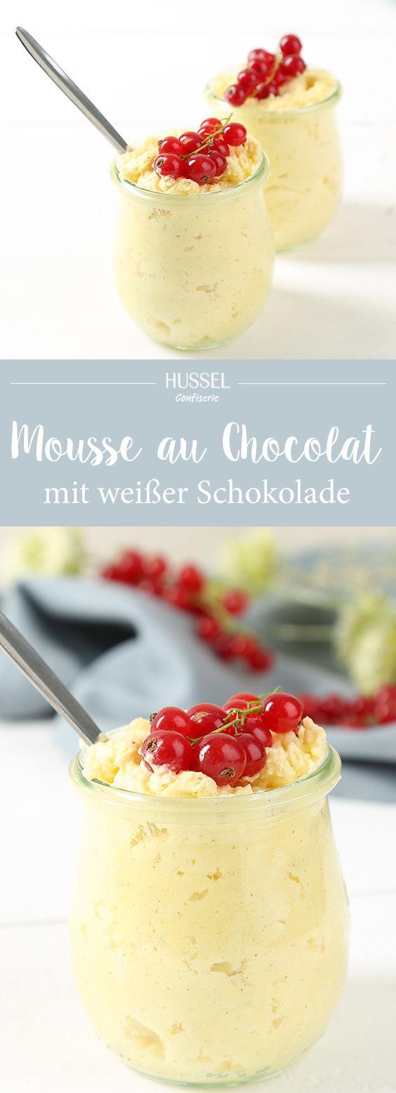 Weiße Mousse au Chocolat - ein französischer Traum - Hussel Confiserie