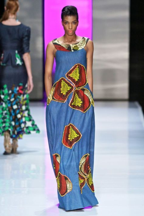 0330fbabc4 African Print On Denim Dresses