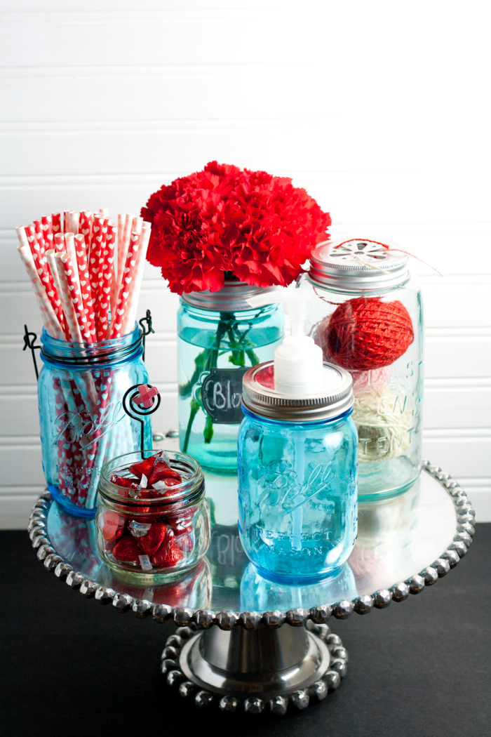 Mason Jars with Lids ~ 5 Mason Jar Projects for the Non Crafty from cupcakes and crinoline
