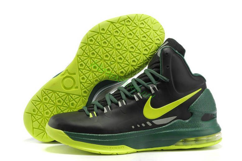 official photos f80e4 dca92 Cheap Nike Zoom KD V 5 Black Green Yellow Basketball Shoes Fashion Shoes  Store