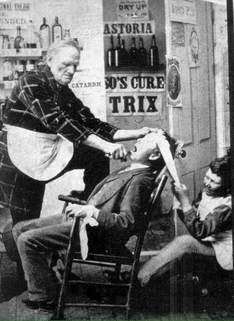 Die gute alte Zeit - Zahnarzt