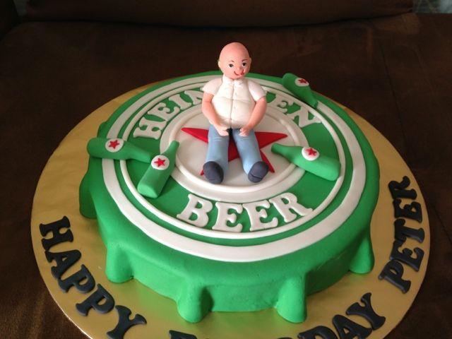 Beer Bottle Cake Decorations Mesmerizing Cake Cupboard Heineken Beer Bottle Cap Cake  Cake Ideas For Decorating Design
