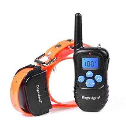 Dogwidgets DW-17 Dog Training Collar With Remote 100 Levels Of Shock Vibration…