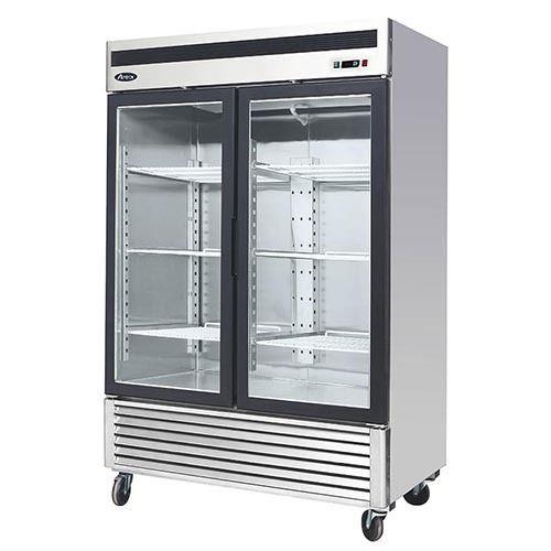 Atosa Mcf8707 Double Glass Doors Upright Freezer Glass Door Refrigerator