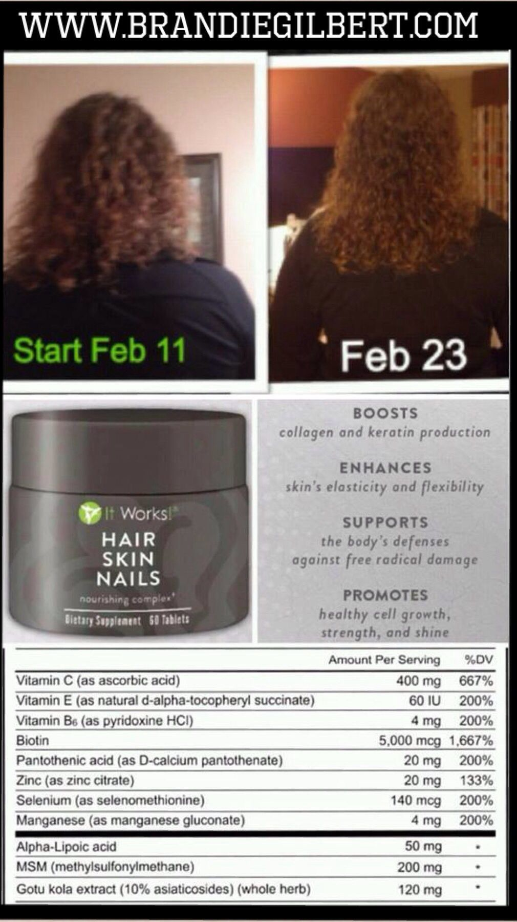 More amazing results from our Hair, Skin and Nails Supplement! This ...