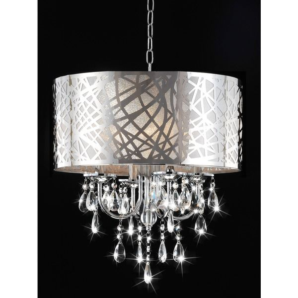 4-light Chrome Crystal Chandelier - Overstock Shopping - Great ...