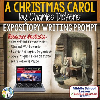 A Christmas Carol - Expository Writing Prompt... by Write On with Jamie | Teachers Pay Tea ...