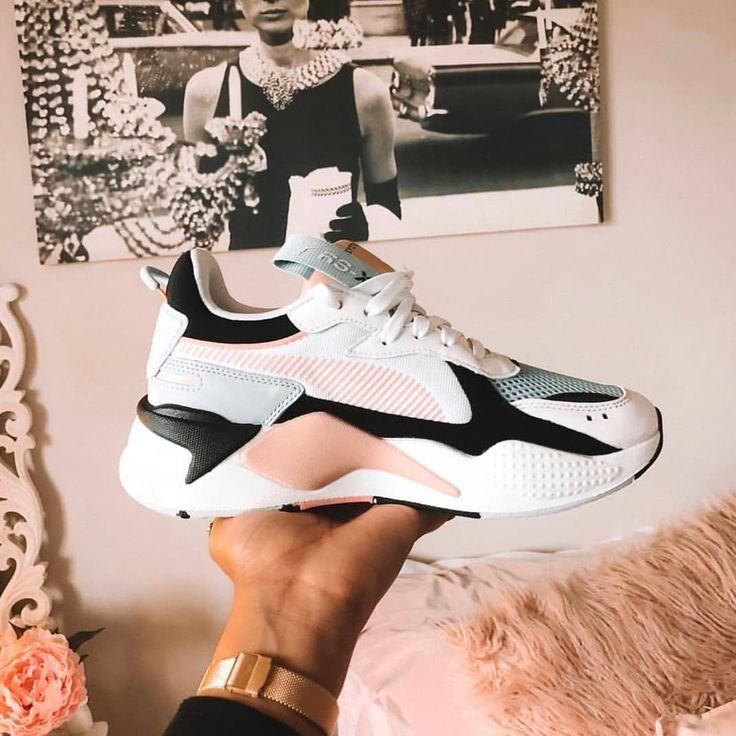 PUMA RS X REINVENTION SHOES White Black Pink Blue