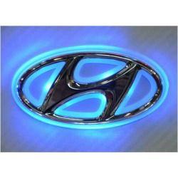 4D LED Car Tail Logo Auto Badge Light Red light for Hyundai I30 Sonata Elantra