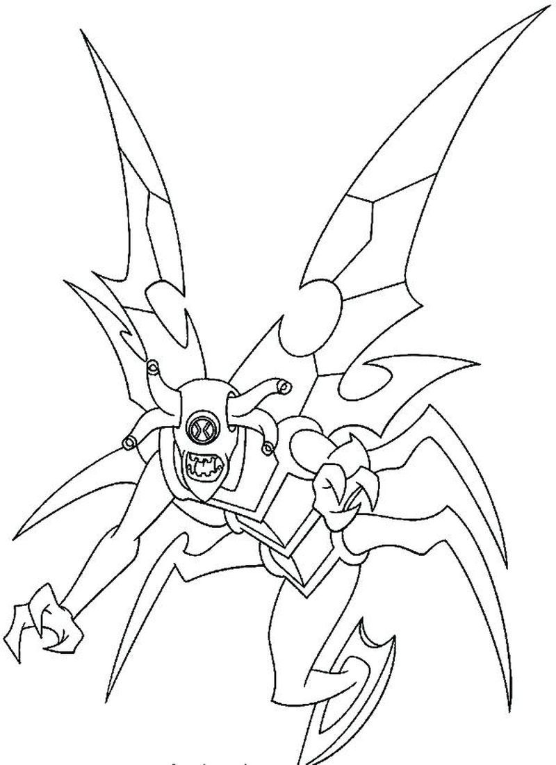 Ben 10 Ultimate Way Big Coloring Pages