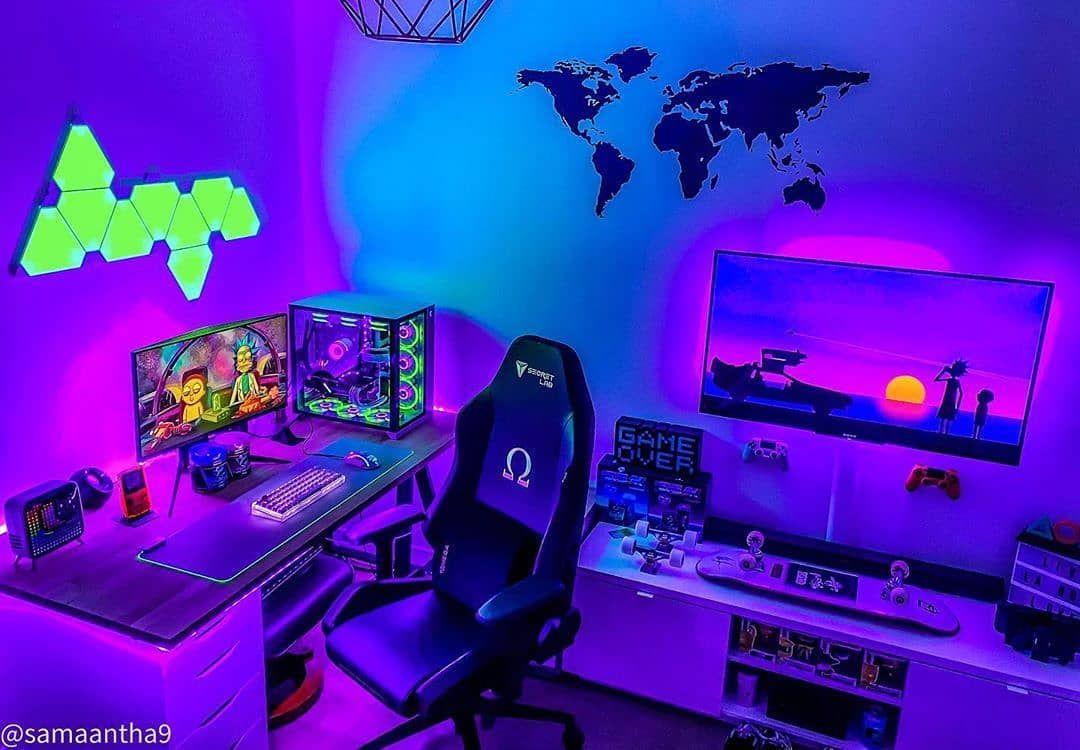250 Gaming Room Setup Gaming Room Setup Game Room Room Setup Bedroom gaming pc setup