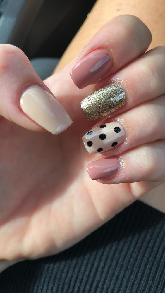 60 Polka Dot Nail Designs for the season that are classic yet chic