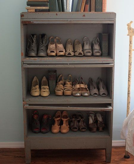 Bon Click Pic For 32 DIY Shoe Organizer Ideas   Repurposed Dresser Without  Drawers   DIY Shoe Storage Ideas