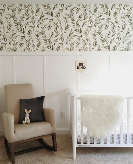 Magnolia Home By Joanna Gaines Olive Branch Spray And Stick Wallpaper Covers 56 Sq Ft Me1536 The Home Depot In 2021 Bedroom Wallpaper Accent Wall Magnolia Homes Nursery Accent Wall