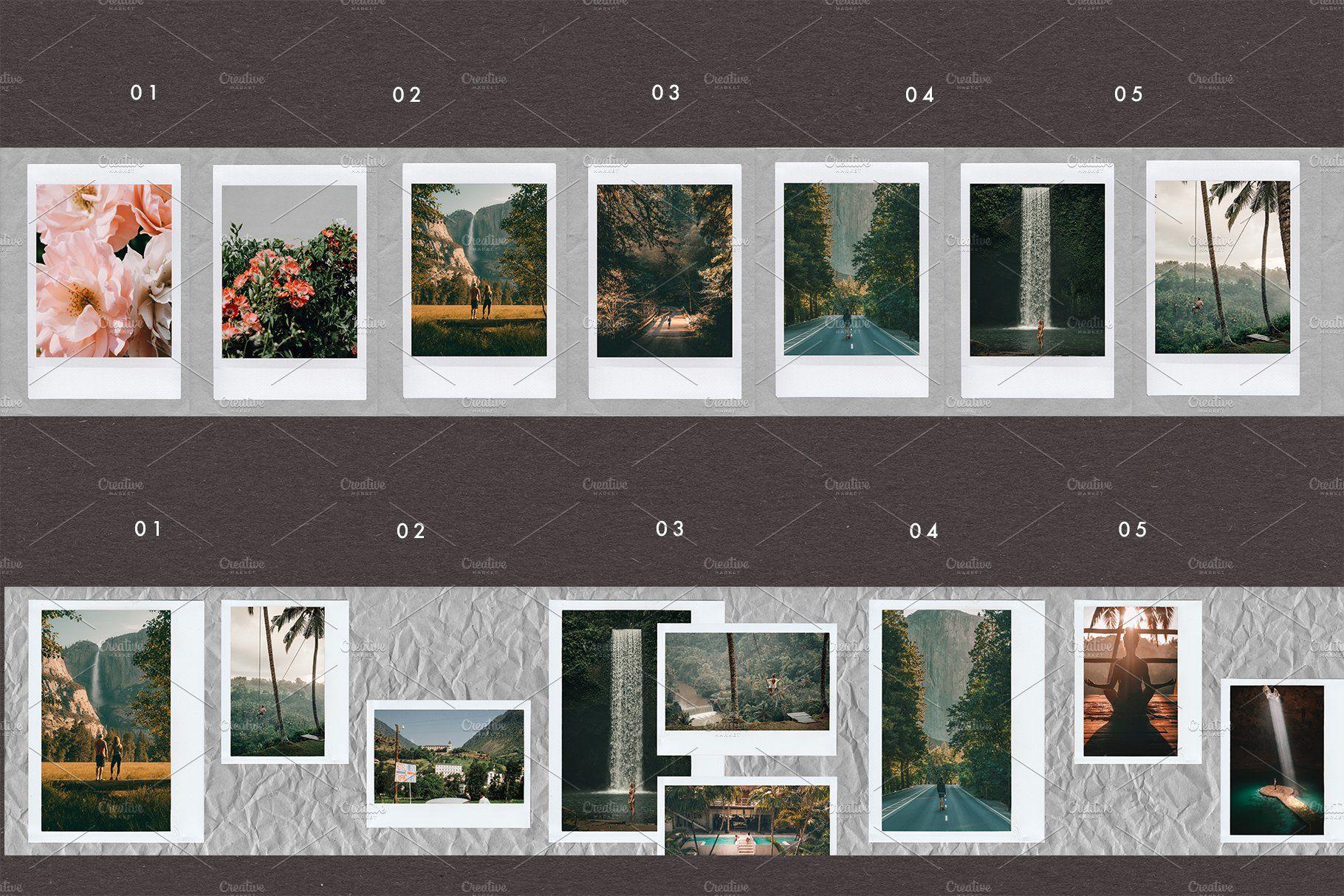 Film Frames Carousel Colorful Backgrounds Frame Instagram Frame