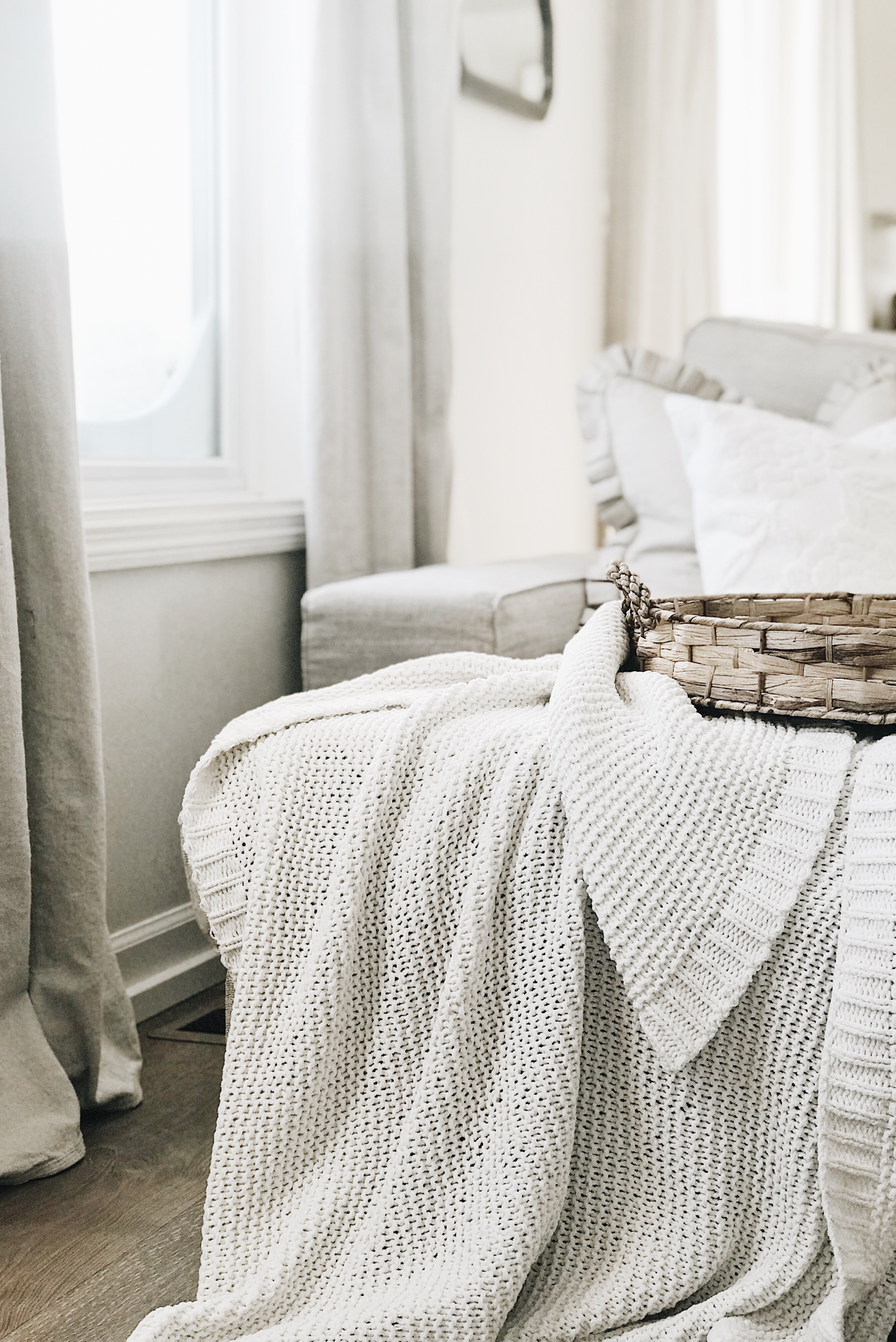 Cozy fall home from Walmart Drop cloth curtains, Small