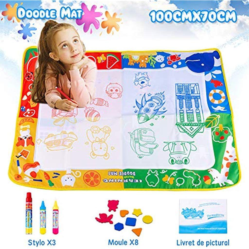 Omew Tapis Doodle Tapis Aquadoodle 10070cm Eau Peinture Magic Matstapis De Dessin 4 Couleurs Grand Surface De Dessin Avec Tapis Aquadoodle Dessin Dessin D Eau