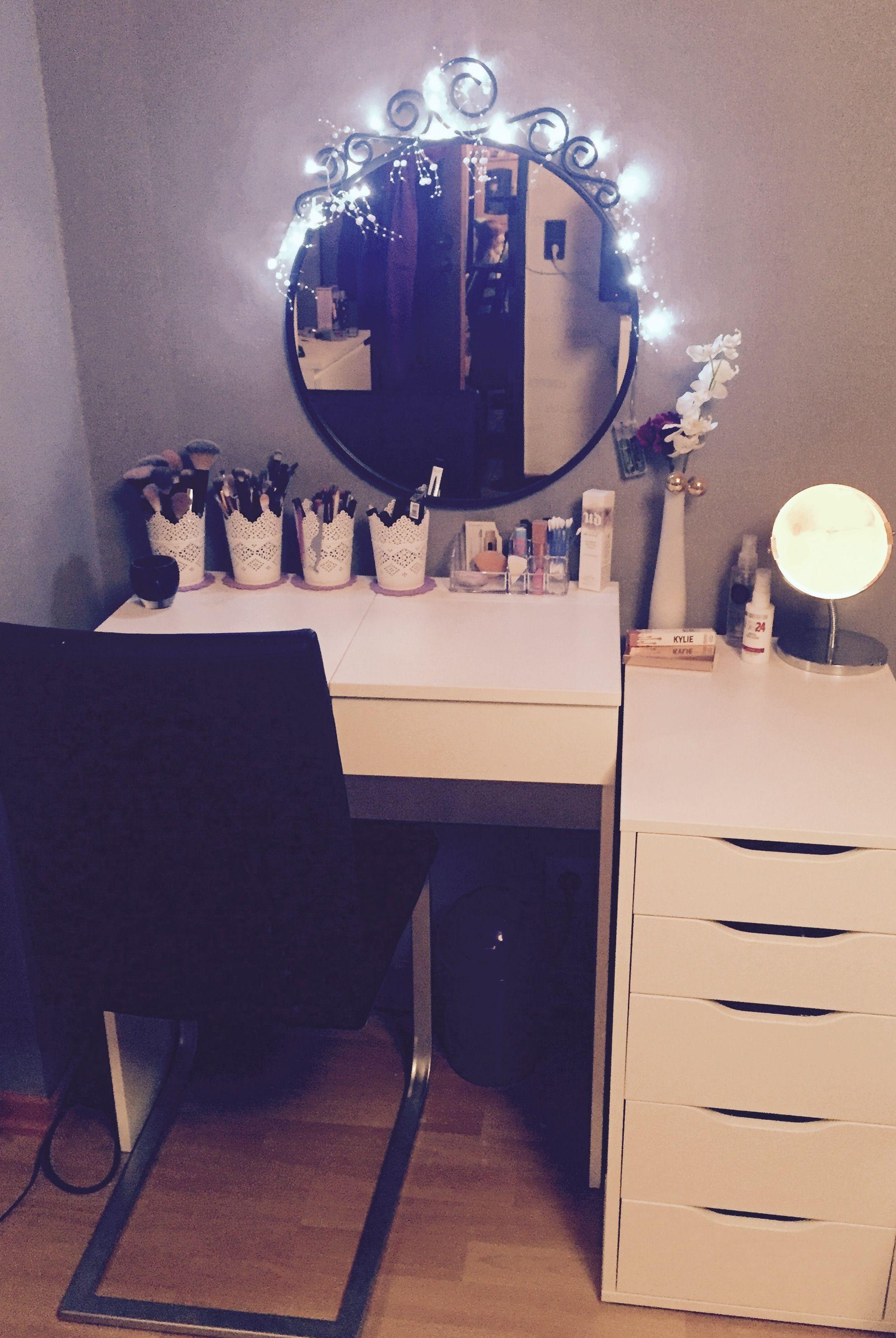 Ikea Vanity Alex Drawer And Brimnes With A Random IKEA Mirror