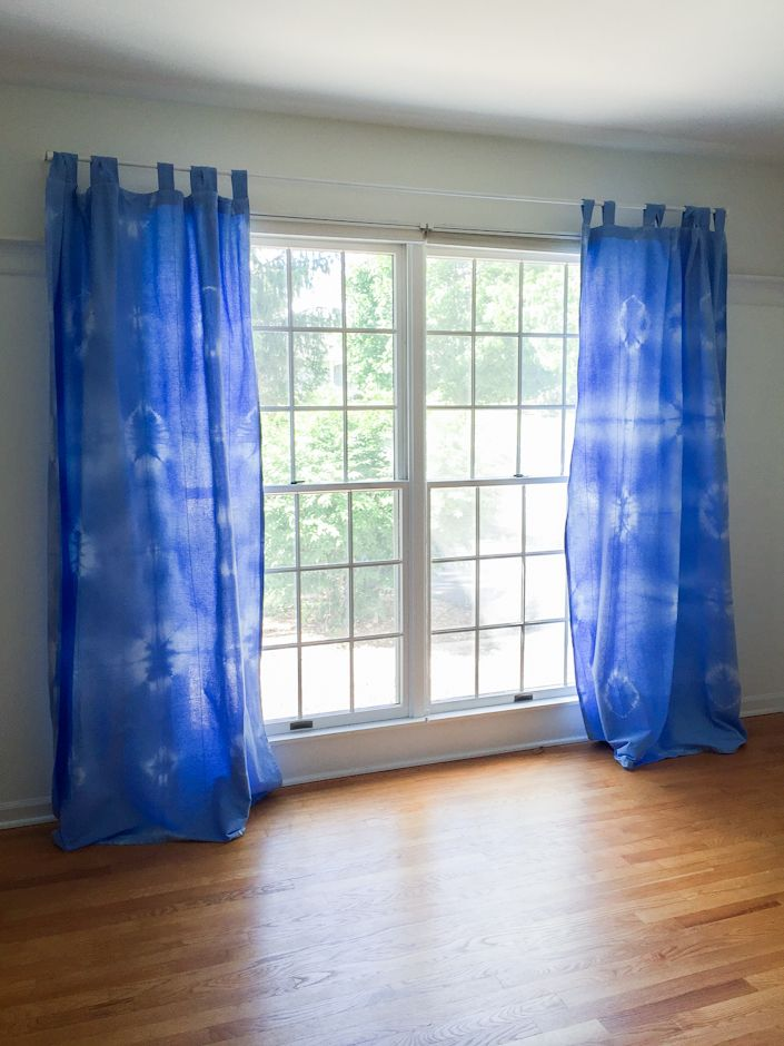 Blue Tie Dyed Curtains, How To And Tips From MichaelsMakers White House  Black Shutters