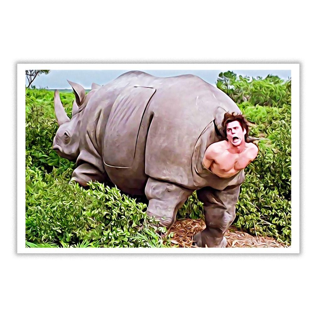 Ace Ventura Rhino Scene poster - Ace Ventura poster ...