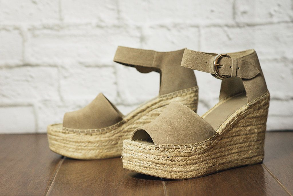 8b787fe3719 The Alida wedge by Marc Fisher Ltd. is ready for summer. Layers of artfully