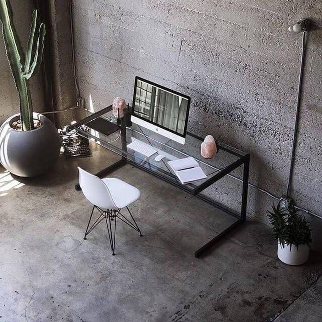 34 Gorgeous Home Office Design Ideas For Men Magzhouse Small Home Office Home Office Table Small Home Office Ideas For Men