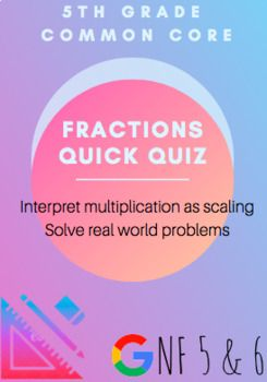 Fractions Quick Quiz: Multiplication as Scaling & Real World Word Problems #mathintherealworld