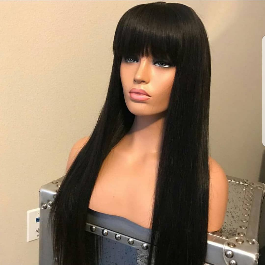 693b801d81e 2019 的 COLODO Human Hair Wigs Natural Color Brazilian Remy Straight ...