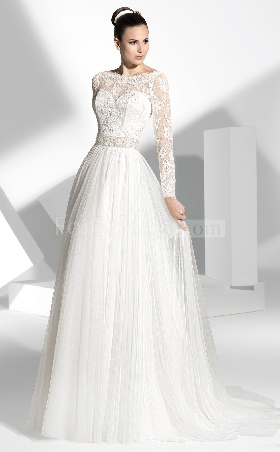 Long sleeve wedding dresswedding dresses with sleeves unique
