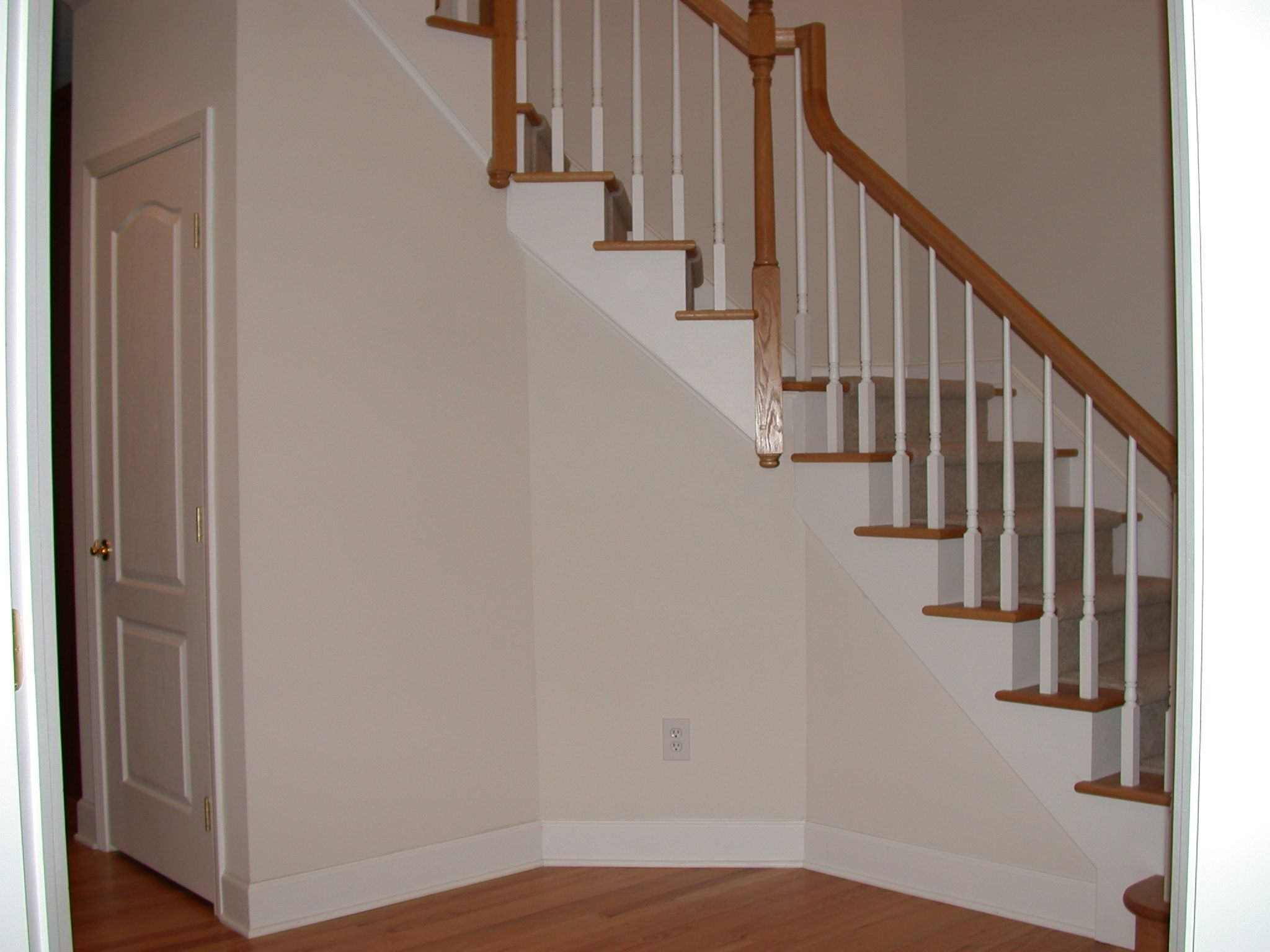 Stair Molding | Side Of Stairs Before Trim