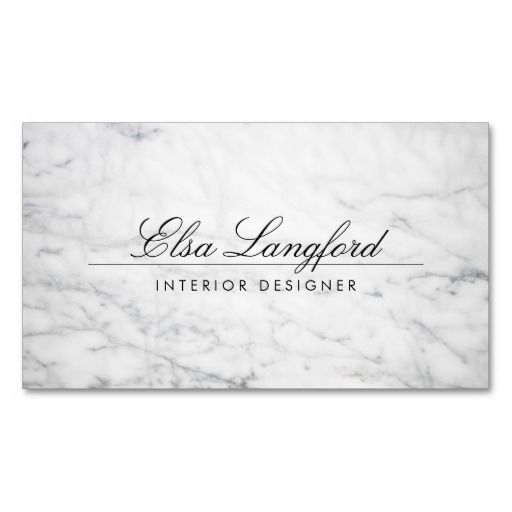 Luxe White Marble Interior Designer Business Card Template Ready To Personalize Business