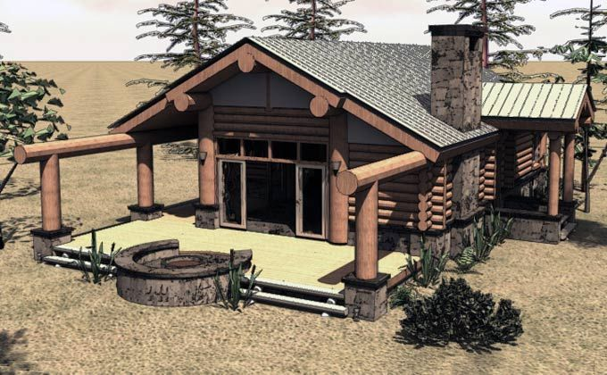 one story log cabin home plans tiny homes tree houses earth two ...