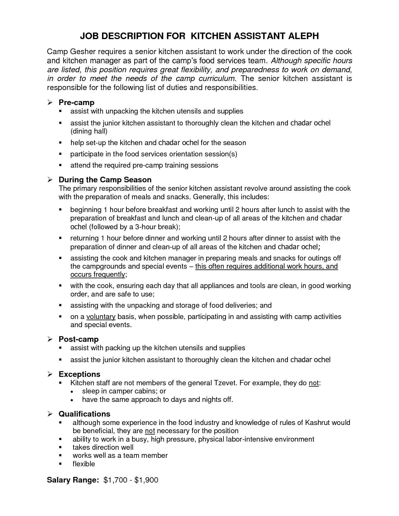kitchen coordinator sample resume graphic designer format nursing