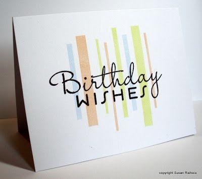 Simplicity Dude Birthday Card Inspiration Pretty Cards