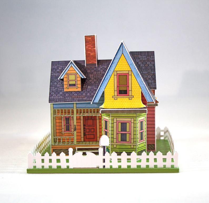 Make Your Own Miniature House Inspired By The Movie Up Digital Download Disney Up House Up The Movie Up House Pixar