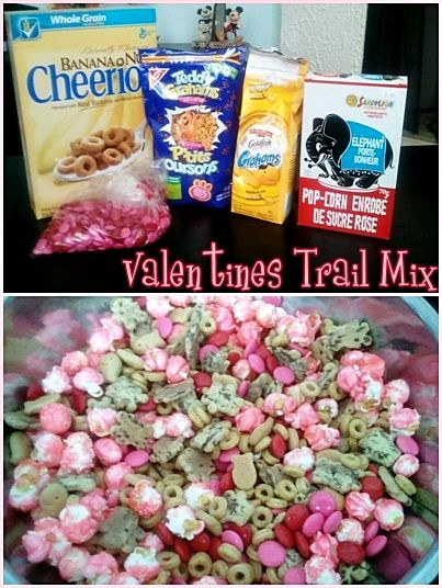Kids Valentines Trail Mix That I Made For My Granddaughters