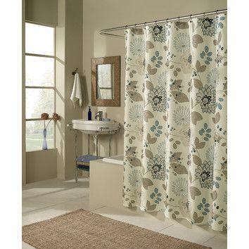 M Style Morgan Shower Curtain Blue Shower Curtains Bathroom
