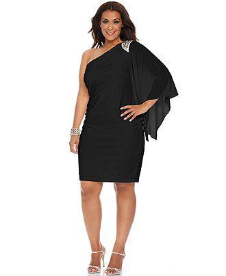 One shoulder cocktail dresses plus size