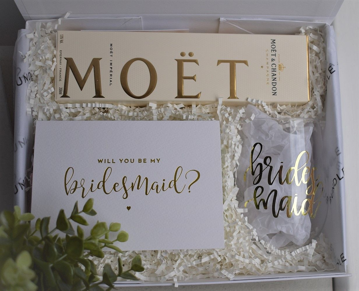 The Loveliest Personalised Bridesmaid Proposal Boxes Wrapped
