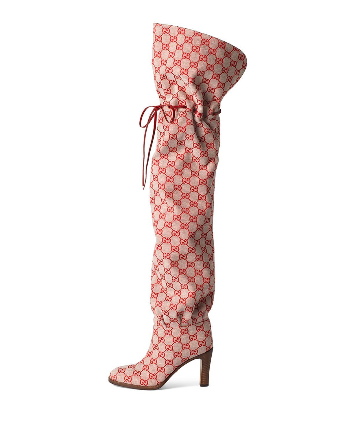 7d67aa3393a Lisa 95mm Over The Knee GG Fabric Boot in 2019 | Products | Shoes ...