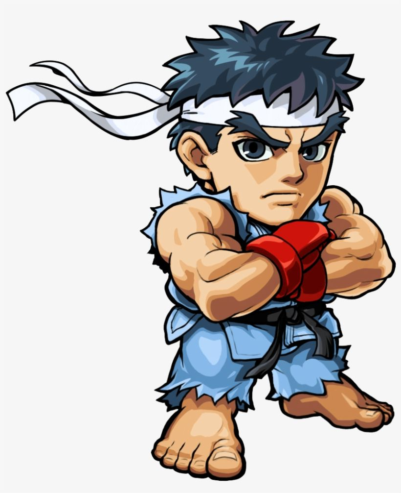 Download Ryu Png Free Download Ryu Street Fighter Cartoon Png