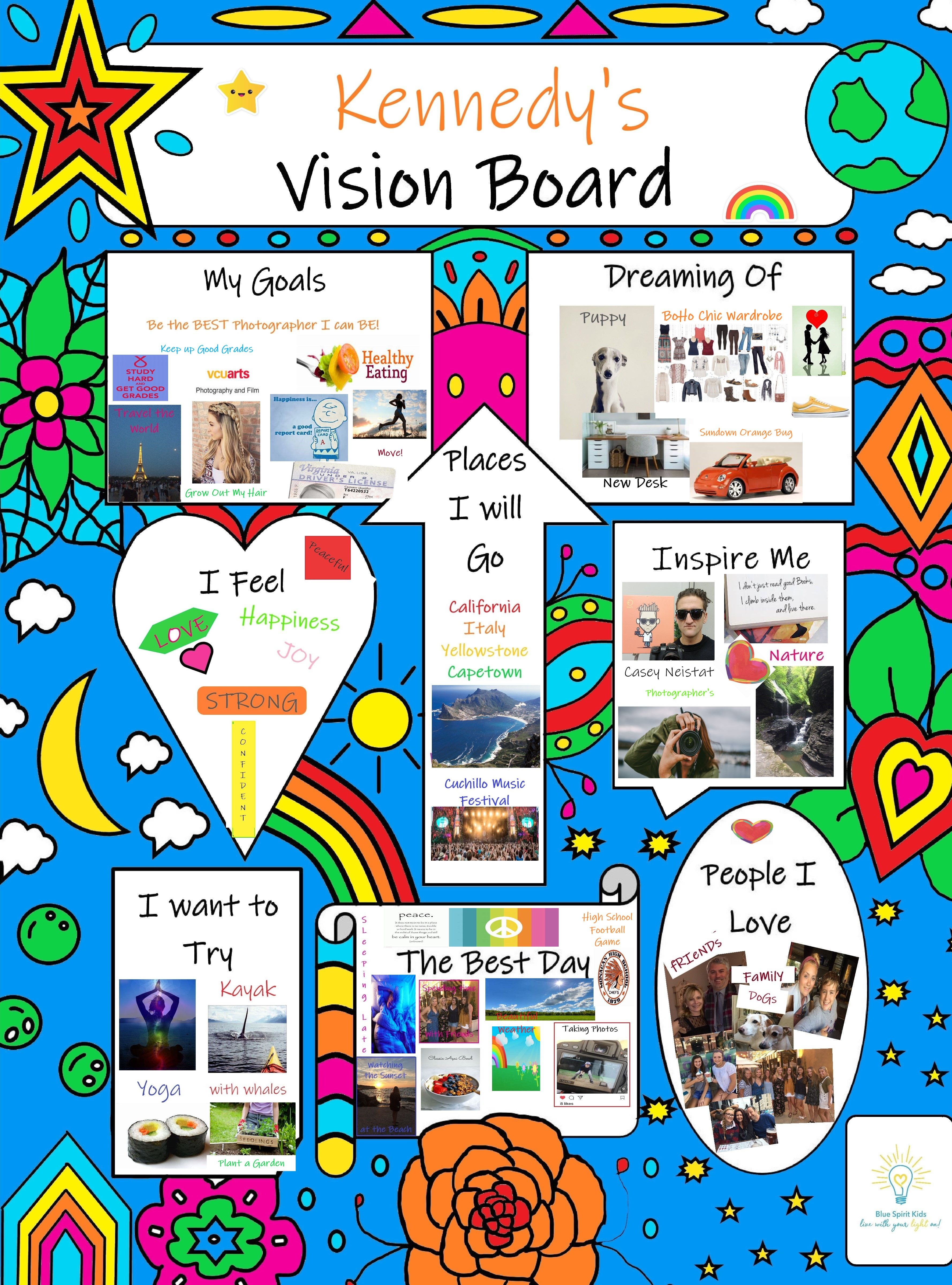 Here Is Out First Style Of Our Kids Vision Board Poster