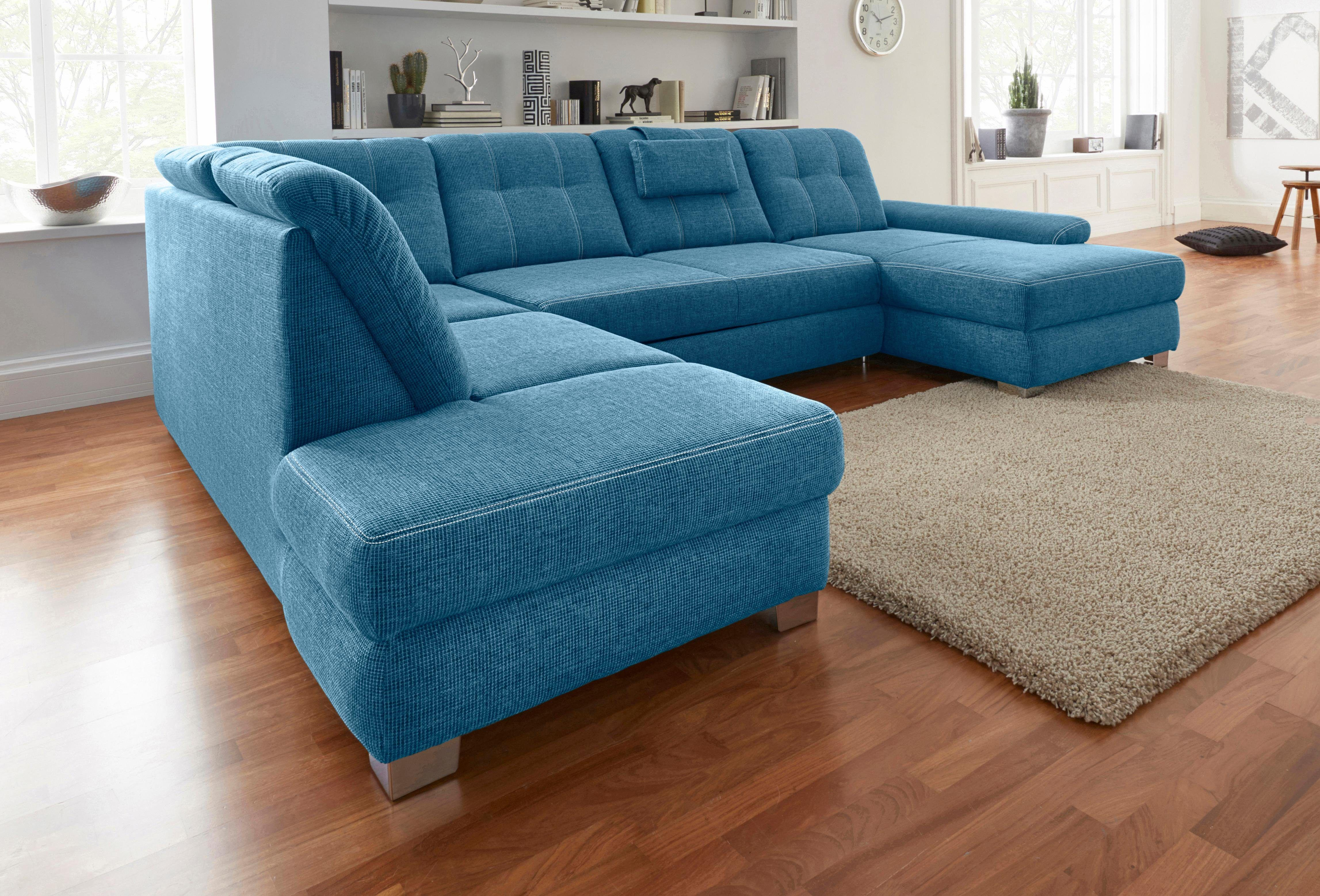 Elegant Sofa Mit Sitztiefenverstellung Foto Von Wohnlandschaft Grün, Sitztiefenverstellung, Ottomane Links, Bettkasten, Fsc®-zertifiziert