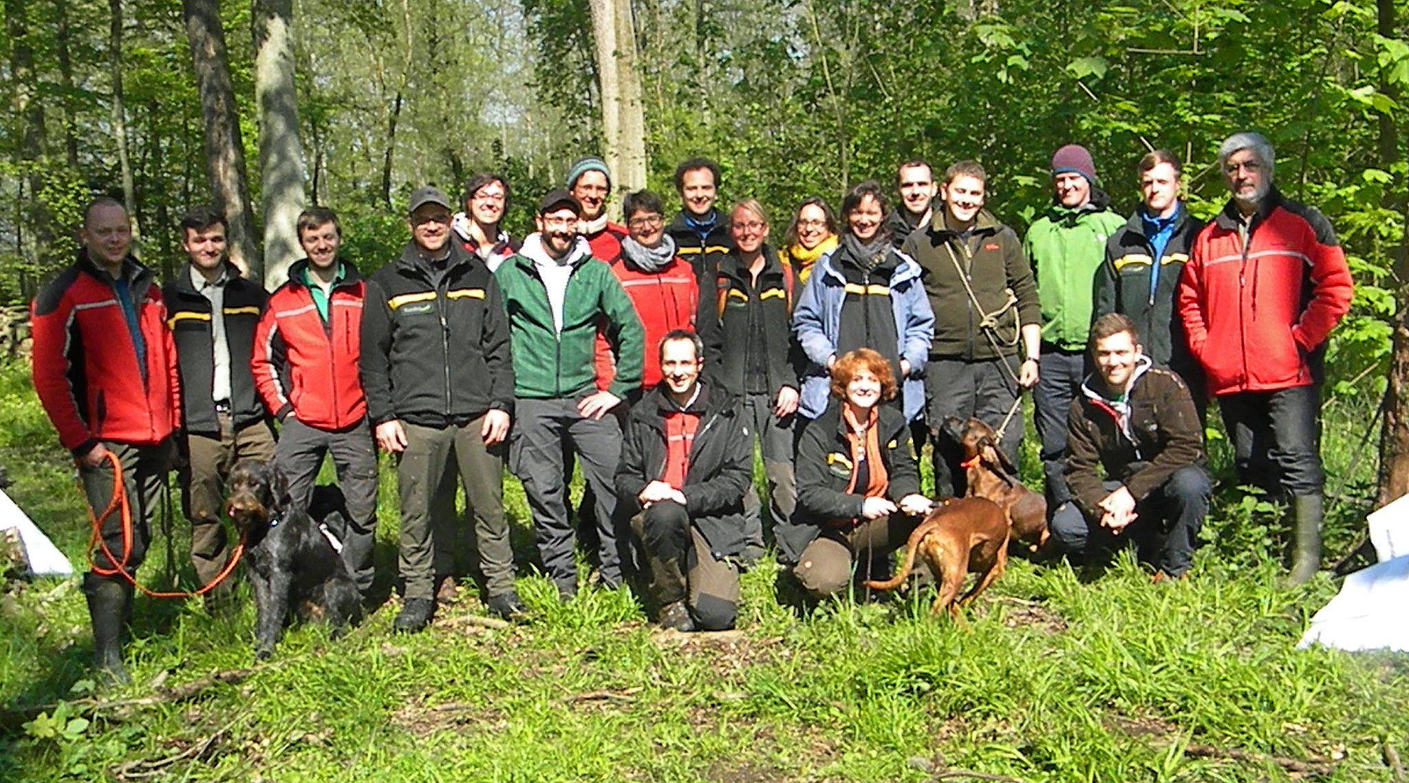 Tim Tschöpe, Trainee im Nationalpark, berichtete über das Waldmanagement im Nationalpark