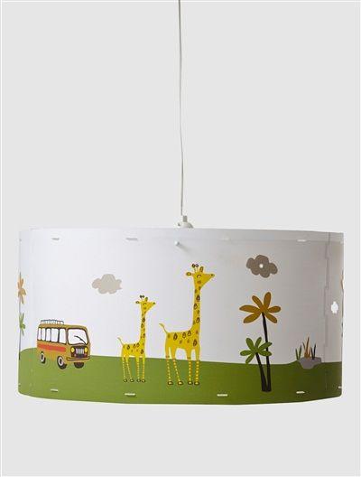 Abat jour enfant lions et nuages suspendre jungle vertbaudet enfant chambre elephant - Abat jour chambre enfant ...
