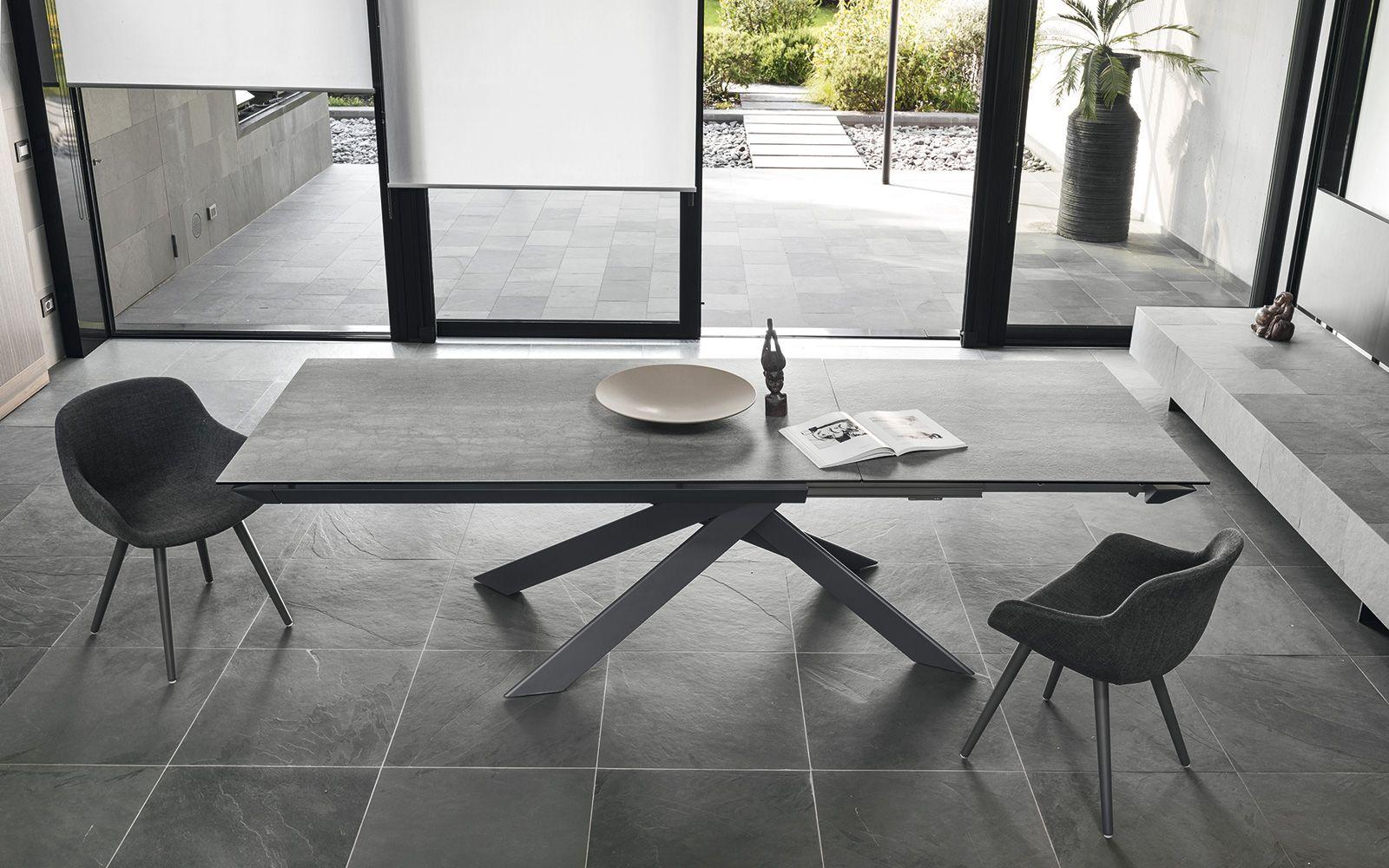 Tavolo calligaris eclisse ceramica vetro tavoli da for Tavoli soggiorno cristallo allungabili